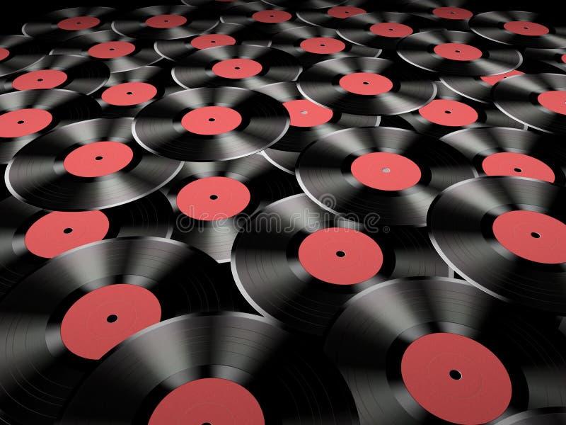 Vinylsätze lizenzfreie abbildung