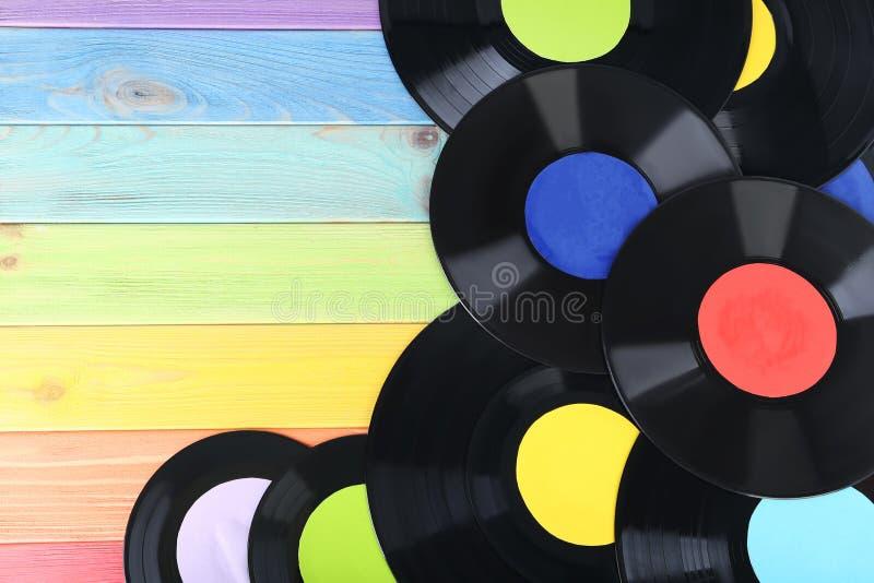 Vinylverslagen royalty-vrije stock foto's