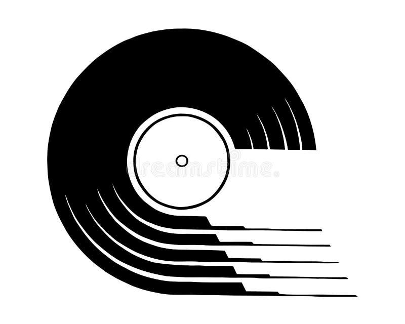 Vinylverslagpictogram Eenvoudige illustratie van vinylverslag vectorpictogram voor Webontwerp dat op witte achtergrond wordt geïs vector illustratie