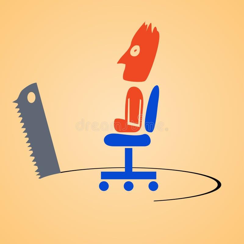 Vio al hombre de negocios stock de ilustración