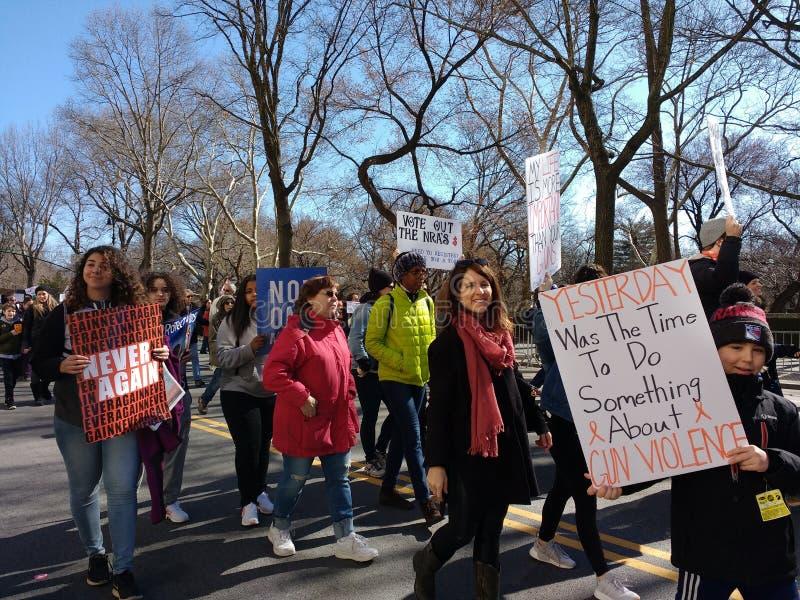 Violência armada em América, março por nossas vidas, protesto, nunca outra vez, NYC, NY, EUA foto de stock