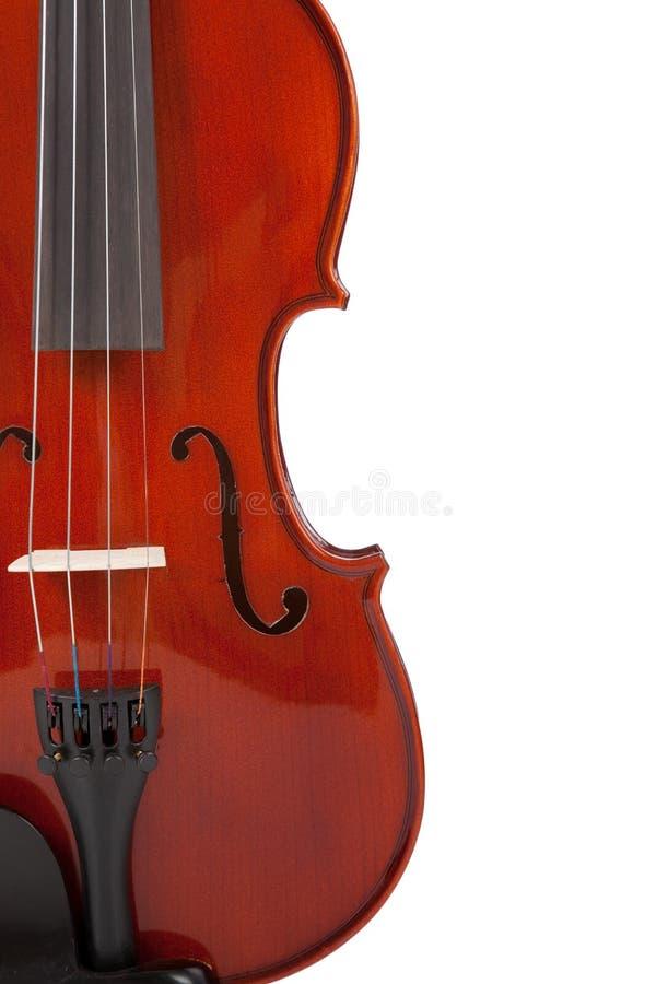 Violín clásico en blanco fotografía de archivo