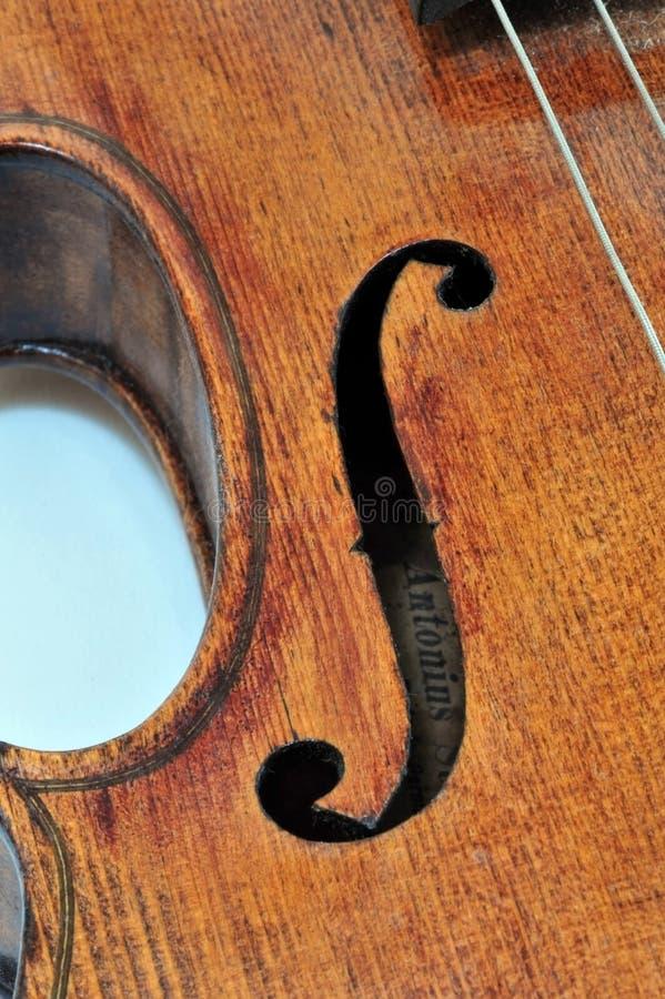 Violín de Antonio Stradivarius fotos de archivo libres de regalías