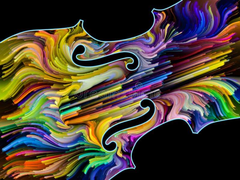 Violín pintado ilustración del vector