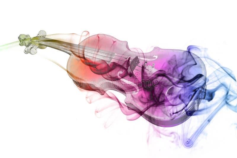 Violín y humo ilustración del vector