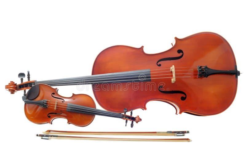 Violín y violoncelo imágenes de archivo libres de regalías