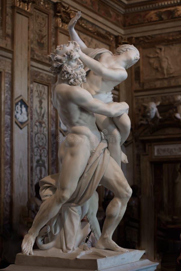 Viol de Proserpine par Gian Lorenzo Bernini photos stock