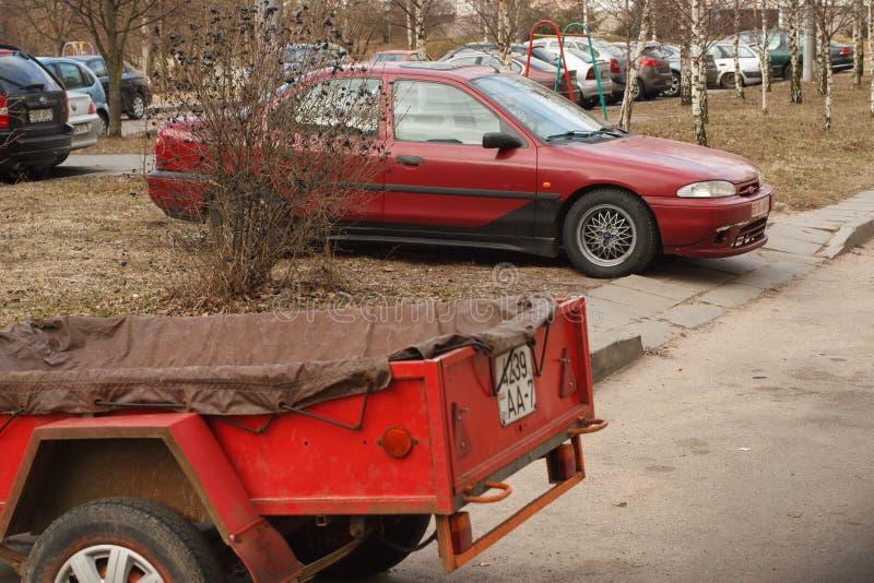 Violação de estacionamento em uma cidade grande imagens de stock