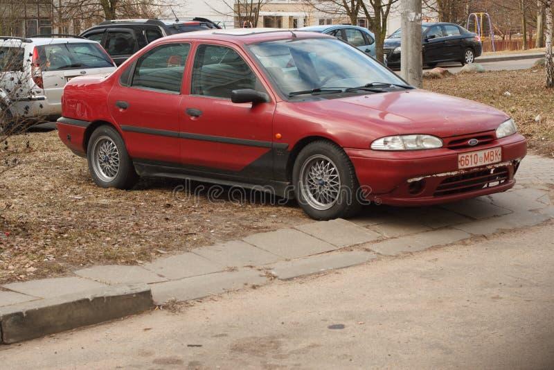 Violação de estacionamento em uma cidade grande fotos de stock