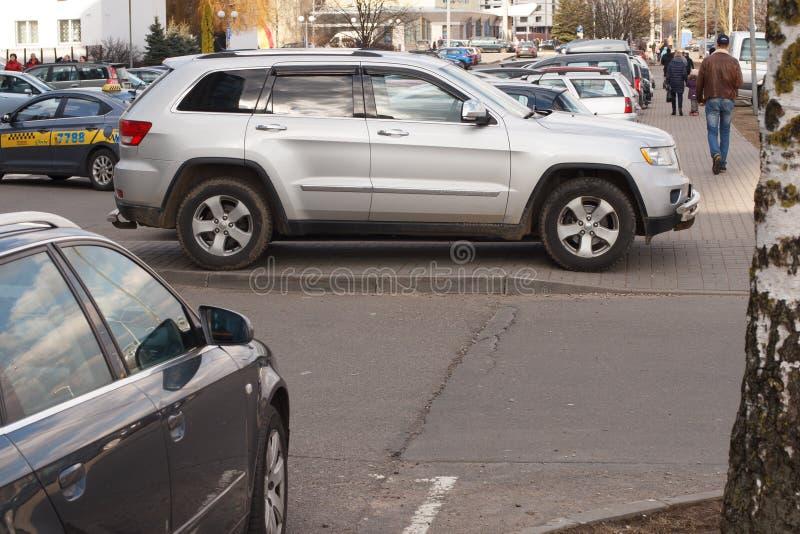 Violação do estacionamento imagem de stock