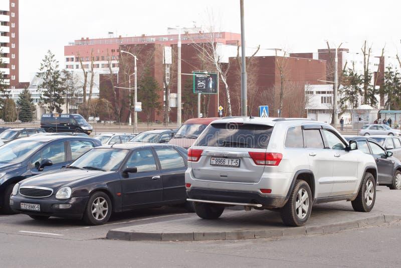 Violação do estacionamento imagens de stock