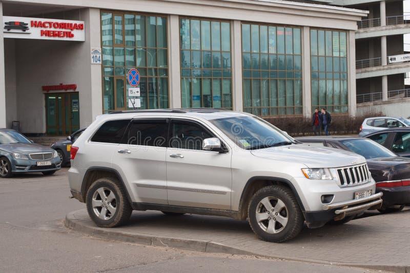 Violação do estacionamento fotografia de stock