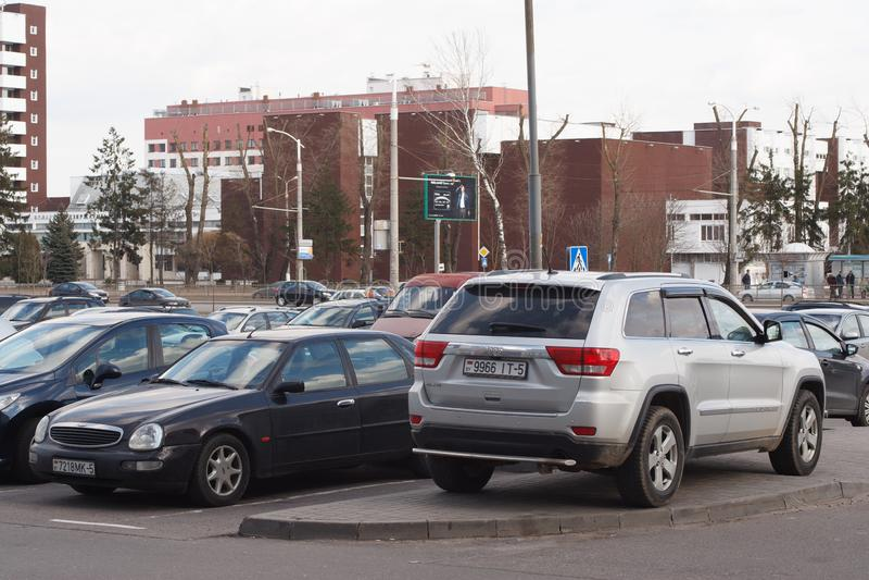 Violação do estacionamento foto de stock royalty free