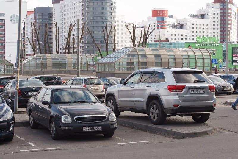 Violação do estacionamento imagens de stock royalty free