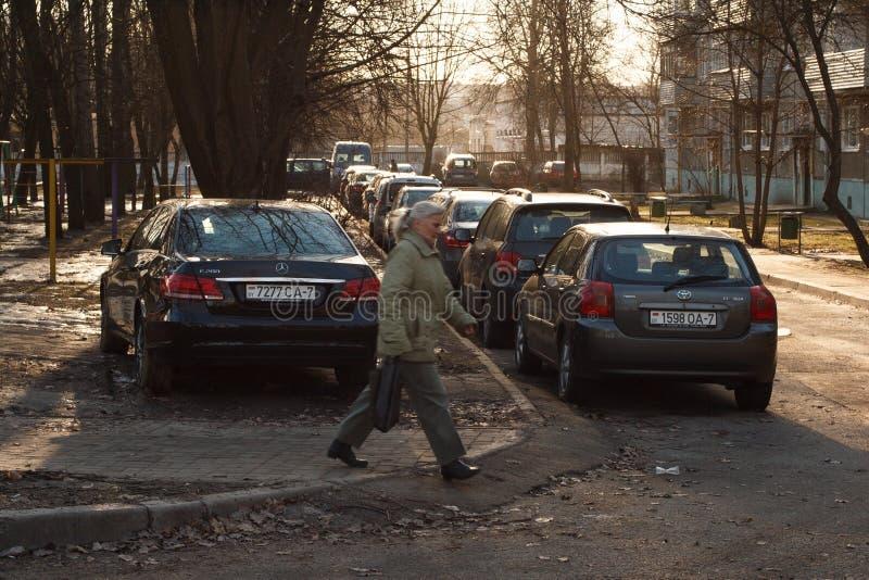 Violação do estacionamento fotos de stock