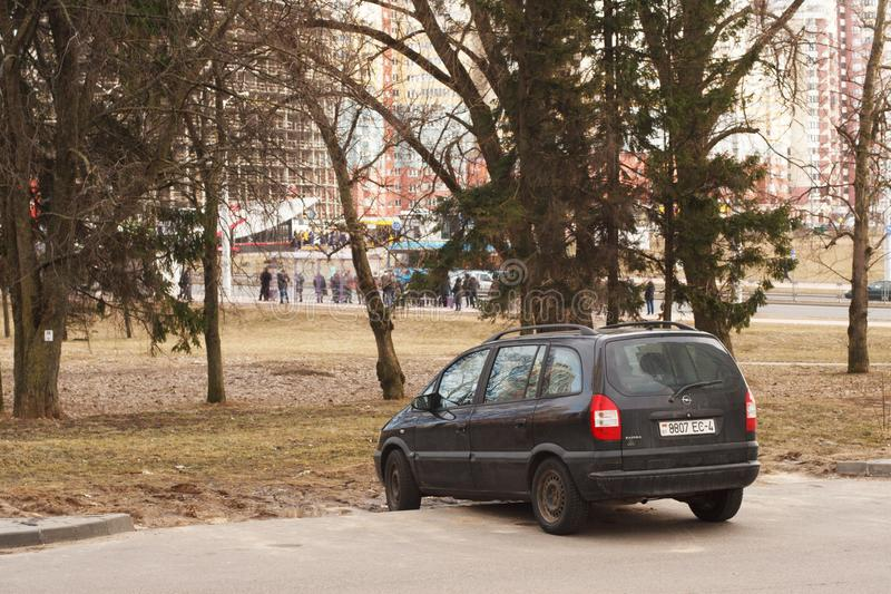 Violação do estacionamento fotografia de stock royalty free
