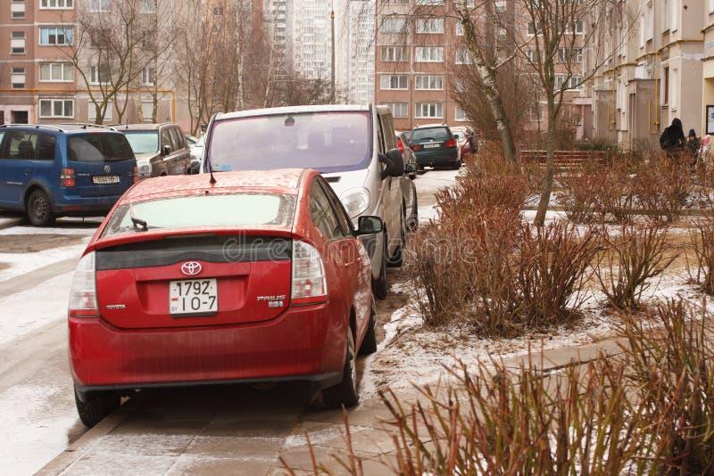 Violação do estacionamento uma cidade grande fotos de stock royalty free