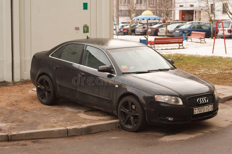 Violação do estacionamento uma cidade grande fotografia de stock royalty free