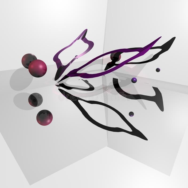 Download Viola astratta illustrazione di stock. Illustrazione di quadrato - 7321296