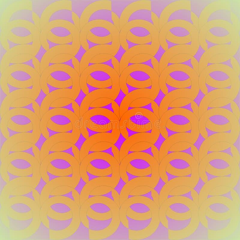 Viola giallo arancione del modello rotondo regolare concentrata royalty illustrazione gratis