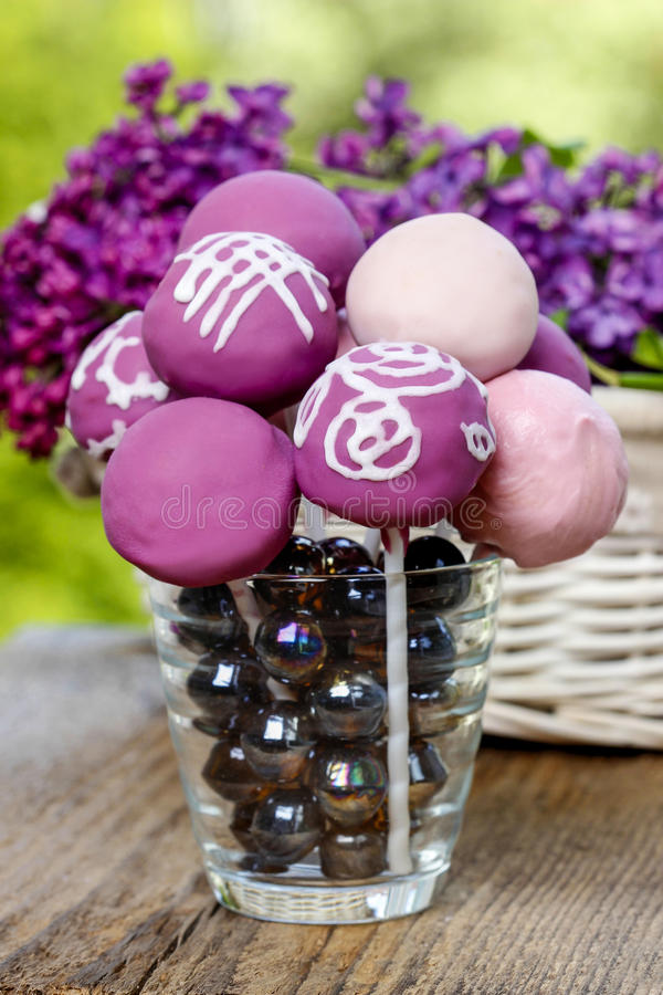 Viola, lillà e schiocchi rosa del dolce immagini stock libere da diritti