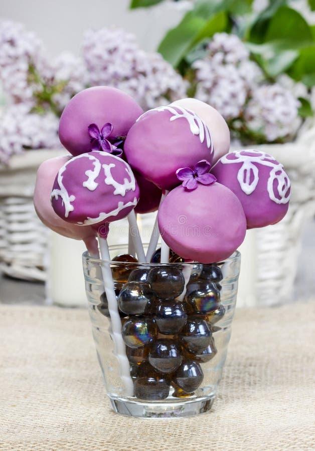 Viola, lillà e schiocchi rosa del dolce immagine stock libera da diritti