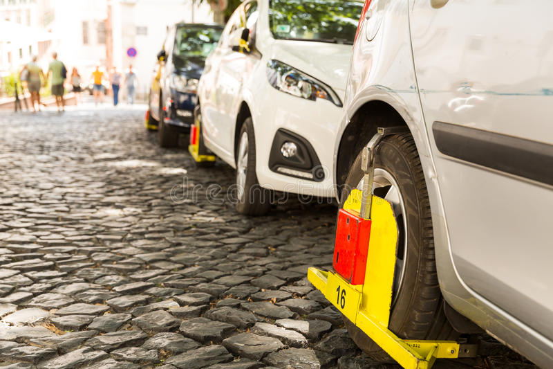 Violación del estacionamiento foto de archivo libre de regalías