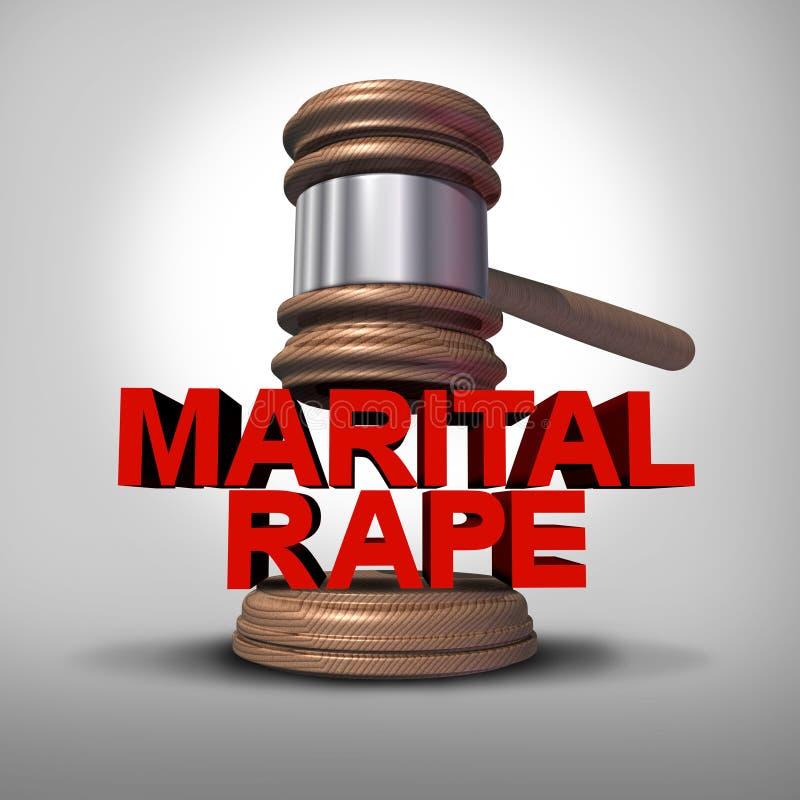 Violación marital ilustración del vector
