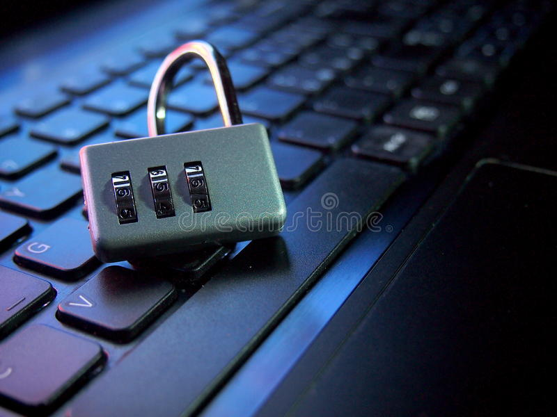 Violated computer security royalty free stock images