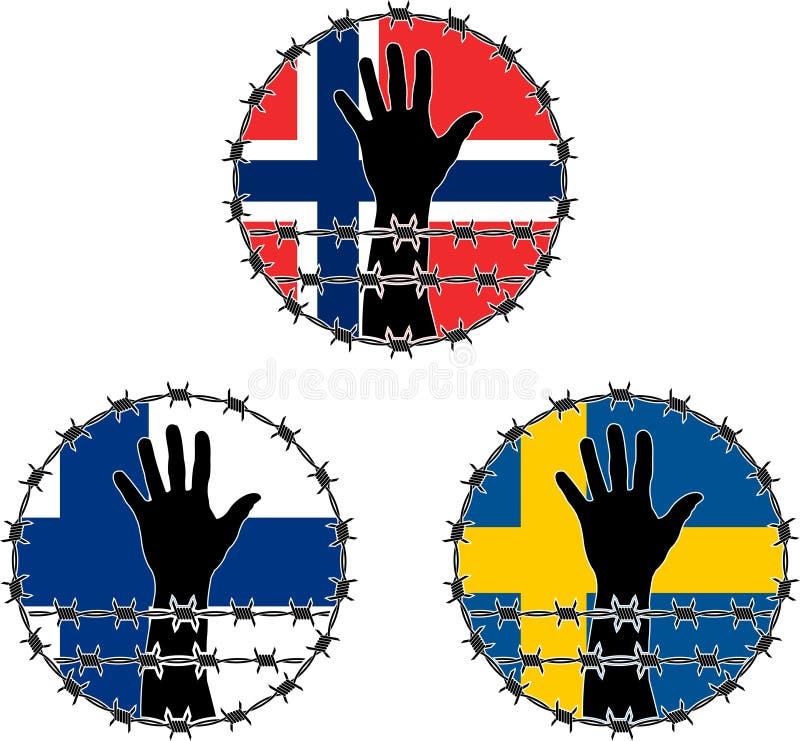 Violazione Dei Diritti Dell Uomo In Scandinavo Immagine Stock