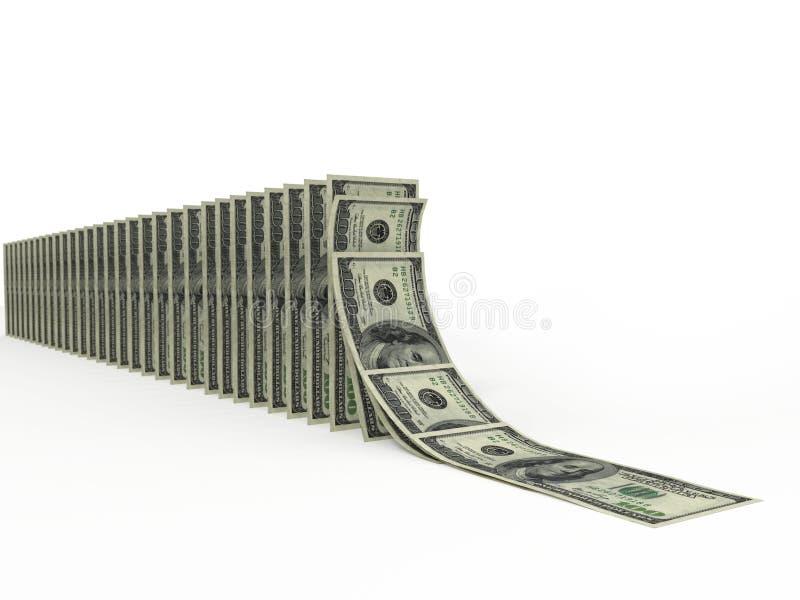 Violazione di stabilità del dollaro fotografia stock libera da diritti