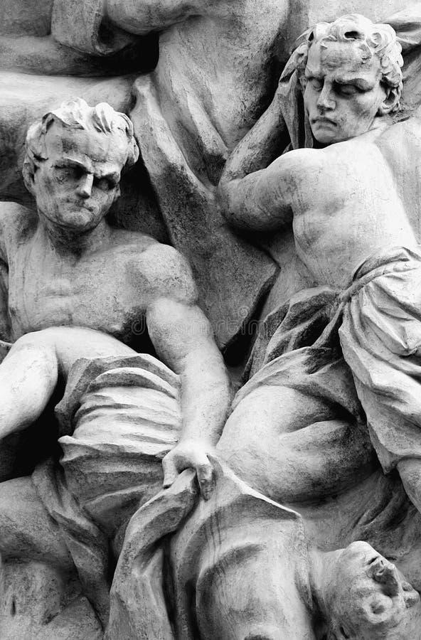 Violence ancienne - art religieux - image stock