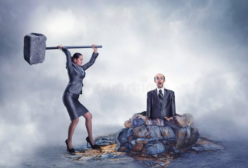 Violence d'affaires illustration de vecteur