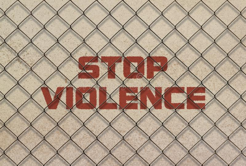 Violence d'arrêt des textes images libres de droits