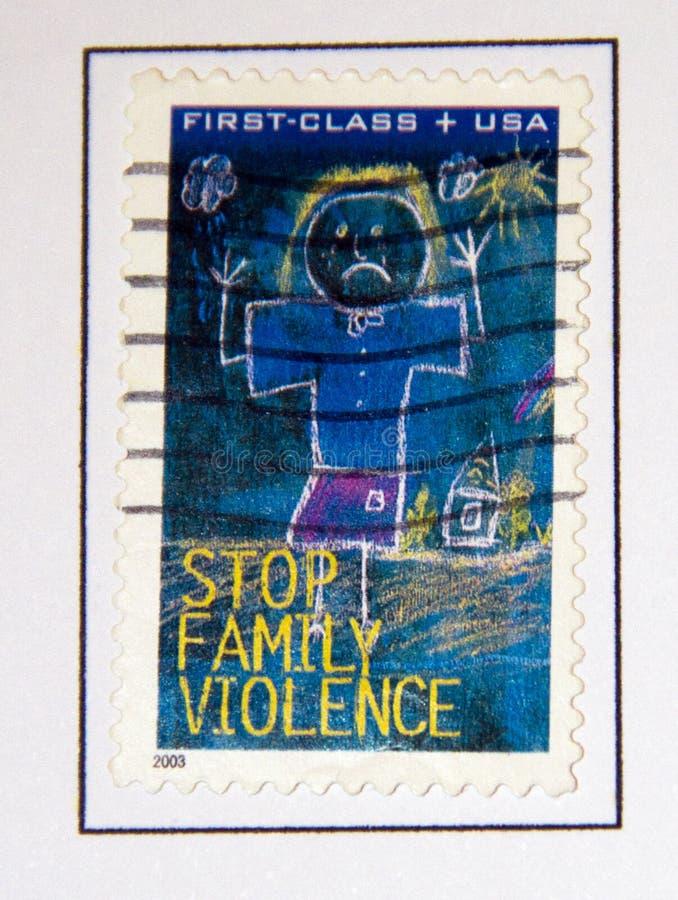 Violence de famille images libres de droits
