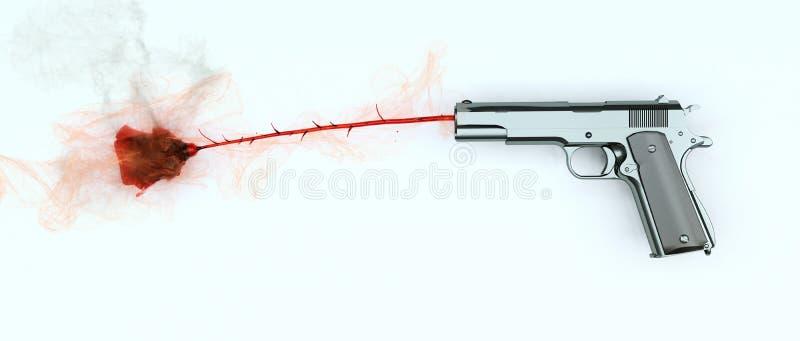 Violencia armada ilustración del vector