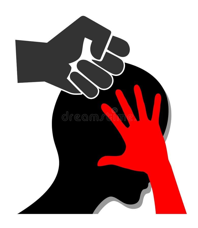 Violencia contra mujeres ilustración del vector