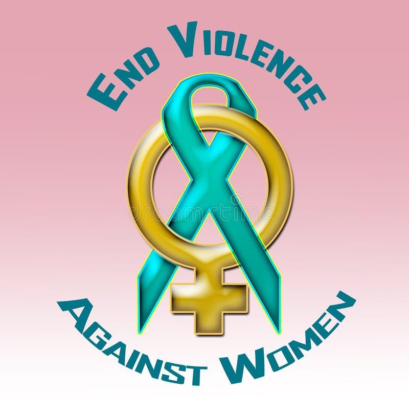 Violencia del final contra mujeres stock de ilustración