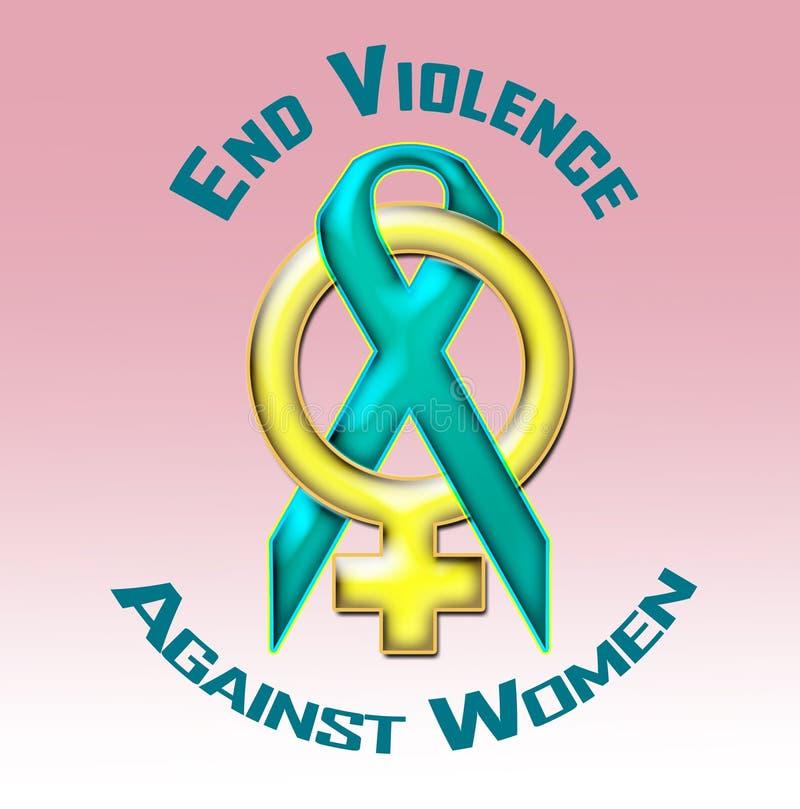 Violencia del final contra mujeres ilustración del vector
