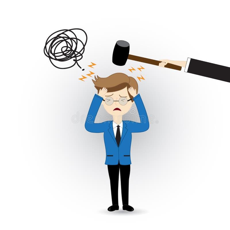 Violencia del negocio ilustración del vector