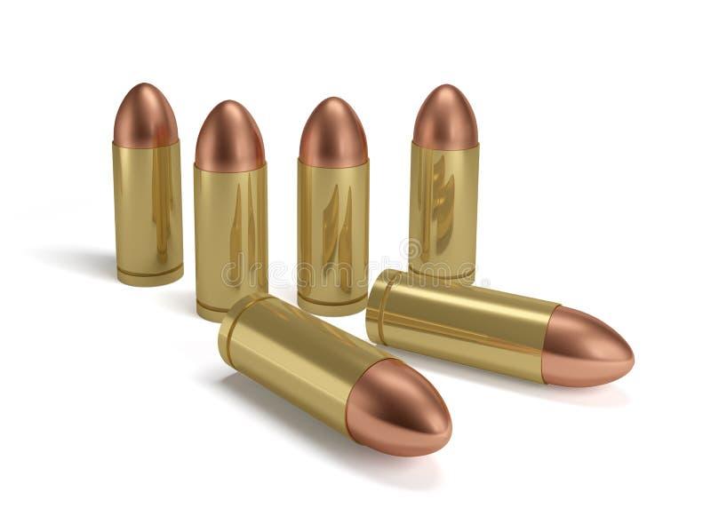 Violencia del revólver de la pistola de las balas stock de ilustración