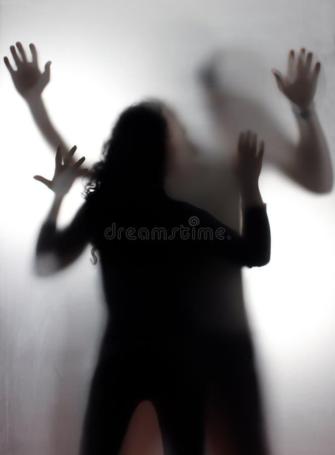 Violencia en el hogar imagen de archivo libre de regalías