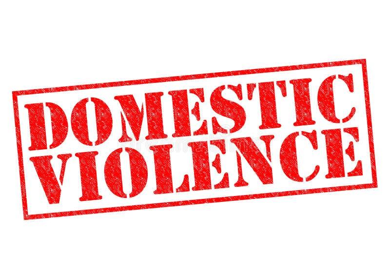 Violencia en el hogar ilustración del vector