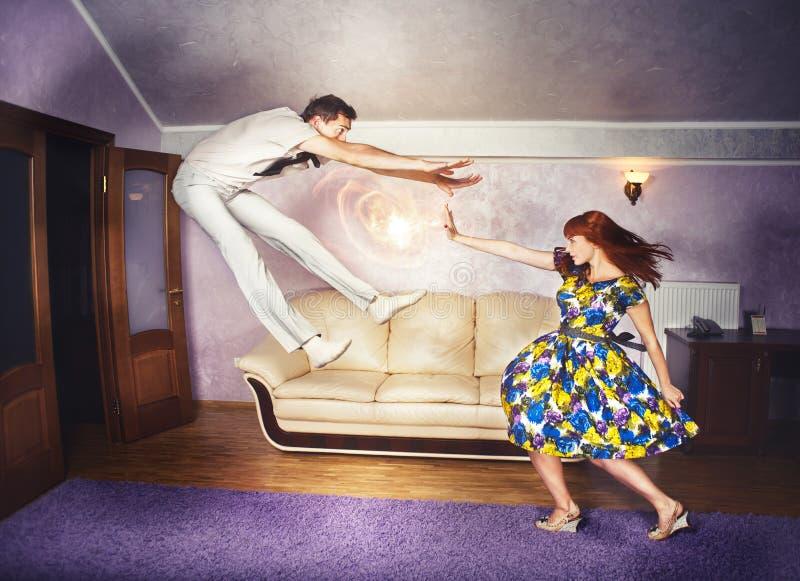 Violencia en el hogar invertida imagen de archivo