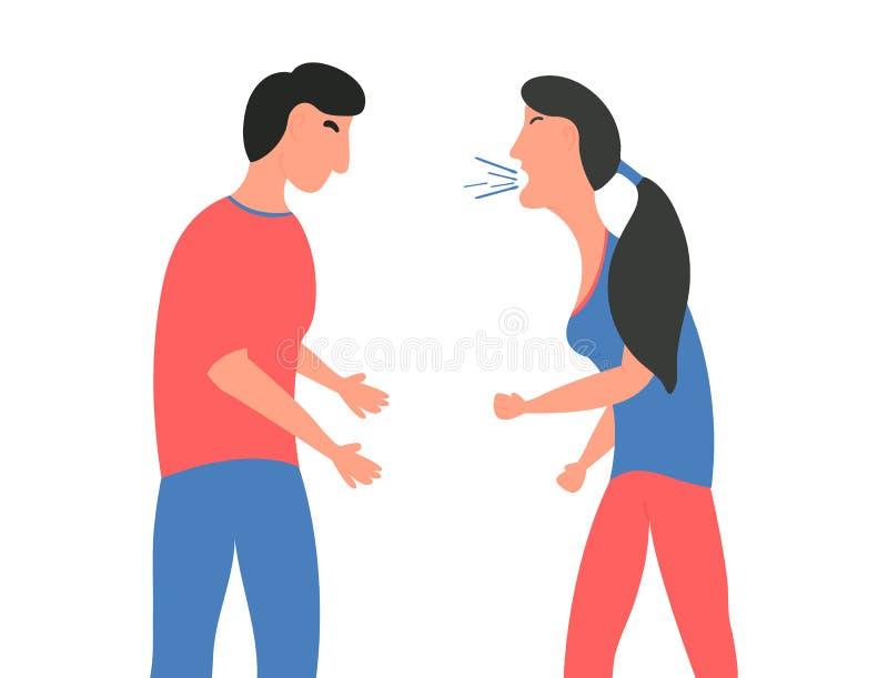 Violencia en familia E r Ilustración del vector ilustración del vector