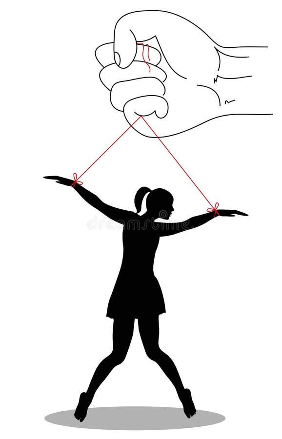 Violencia en mujeres stock de ilustración