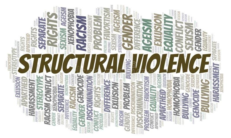 Violencia estructural - tipo de discriminación - nube de la palabra libre illustration