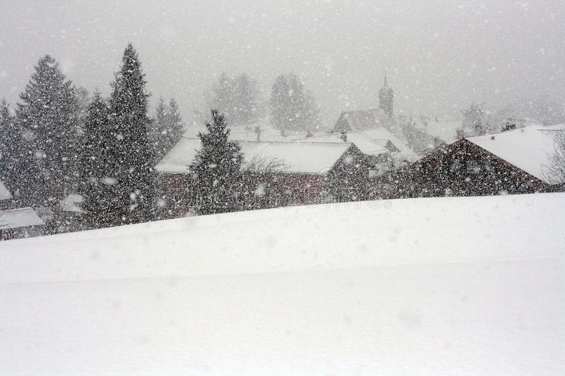 A violent blizzard in Bavaria. (Germany royalty free stock photos
