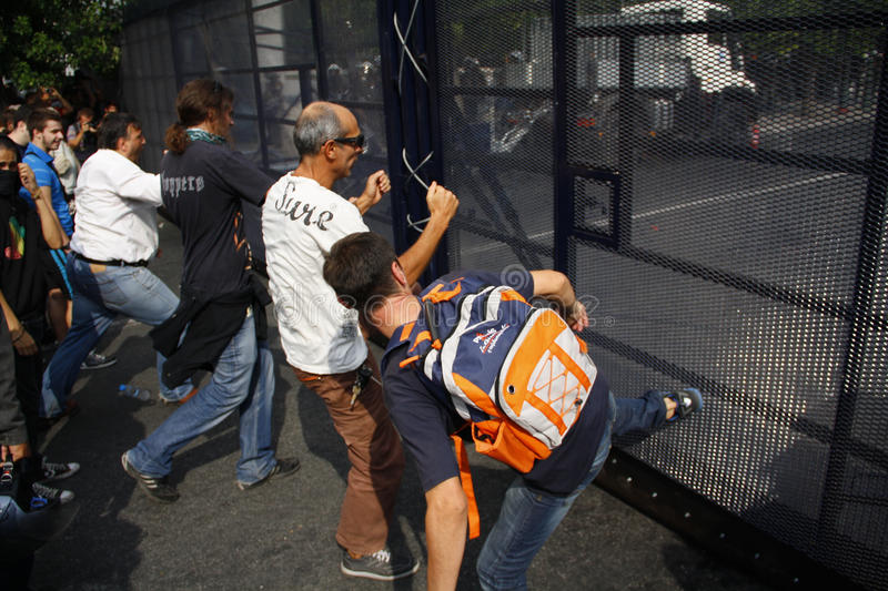 Download Violent Clashes During Merkel Visit In Athens Editorial Stock Photo - Image: 27042093