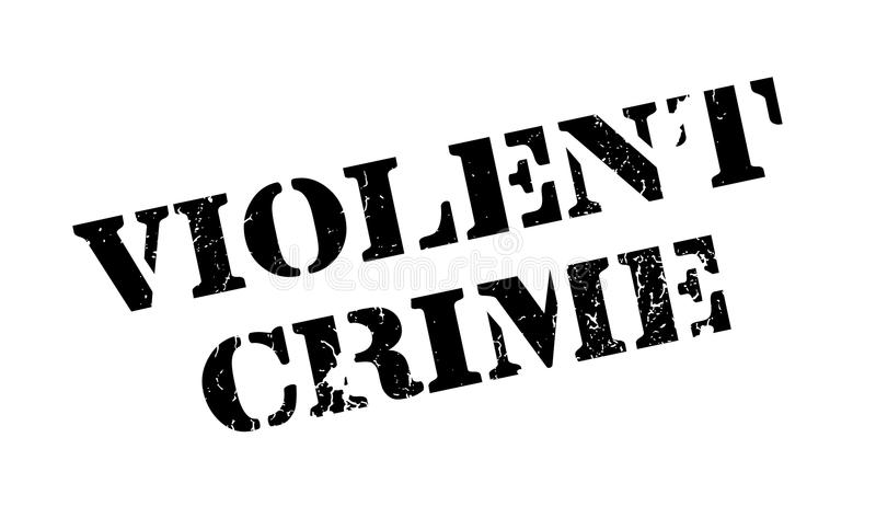 Violent Crime rubber stamp vector illustration